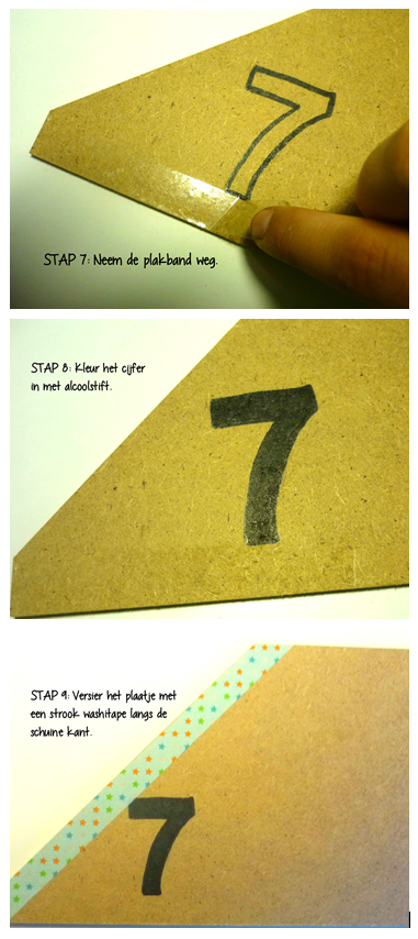 Stap 7 tot 9