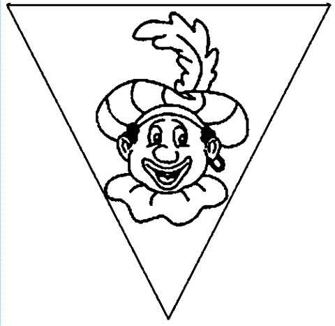 Vlaggetje Zwarte Piet