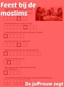 Feest bij de moslims.