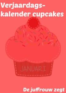 Verjaardagskalender cupcake